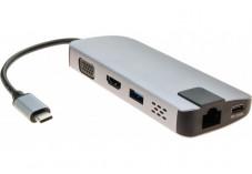 Mini dock USB 3.1 Type-C HDMI 4K-VGA-LAN-HUB +chargeur USB P.D.