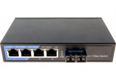 Dexlan switch 4 ports 10/100 + fibre 100FX multimode sc 2KM
