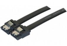 Câble sata 6GB/s slim sécurisé (noir) - 20 cm