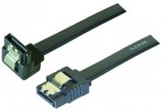 Câble sata 6GB/s coudé bas slim sécurisé (noir) - 75 cm