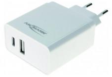 CHARGEUR SECTEUR 2 PORTS USB + TYPE C