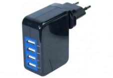 Chargeur secteur USB 4 ports 4,1 ampères