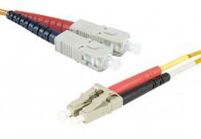 Jarretière optique duplex multimode OM1 62,5/125 SC-UPC/LC-UPC orange - 3 m