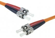 Jarretière optique duplex multimode OM2 50/125 ST-UPC/ST-UPC orange - 1 m