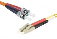 Jarretière optique duplex multimode OM2 50/125 LC-UPC/ST-UPC orange - 1 m