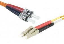 Jarretière optique duplex multimode OM2 50/125 LC-UPC/ST-UPC orange - 2 m