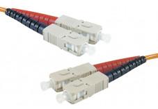 Jarretière optique duplex multimode OM3 50/125 SC-UPC/SC-UPC violet - 2 m