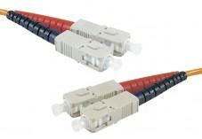 Jarretière optique duplex multimode OM3 50/125 SC-UPC/SC-UPC aqua - 10 m