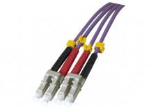 Jarretière optique duplex multimode OM3 50/125 LC-UPC/LC-UPC violet - 15 m