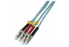 Jarretière optique duplex multimode OM3 50/125 LC-UPC/LC-UPC aqua - 15 m