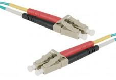 Jarretière optique duplex multimode OM4 50/125 LC-UPC/LC-UPC aqua - 1 m