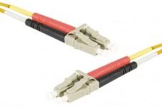 Jarretière optique duplex multimode OM2 50/125 LC-UPC/LC-UPC orange - 15 m