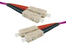 Jarretière optique duplex multimode OM4 50/125 SC-UPC/SC-UPC erika - 1 m