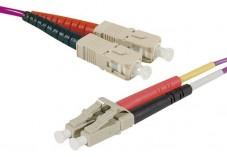 Jarretière optique duplex multimode OM4 50/125 SC-UPC/LC-UPC erika - 2 m