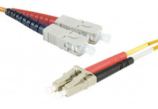 Jarretière optique duplex 2.0 mm multi OM2 50/125 LC-UPC/ST-UPC orange - 2 m