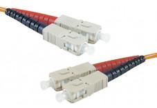 Jarretière optique duplex HD multi OM2 50/125 SC-UPC/SC-UPC orange - 3 m