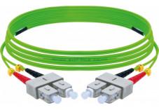 Jarretière optique duplex HD multi OM5 50/125 SC-UPC/SC-UPC vert - 10 m