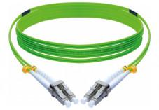 Jarretière duplex 2.0 mm OM5 LC-UPC/LC-UPC vert - 10 m