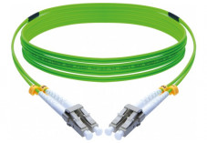 Jarretière optique duplex HD multi OM5 50/125 LC-UPC/LC-UPC vert - 1 m