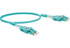Jarretière optique duplex UHD uniboot OM3 50/125 LC-UPC/LC-UPC aqua - 2 m