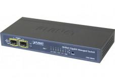 Planet GSD-1002M sw Niv2 8 gigabit + 2 SFP 100/1G alim PoE