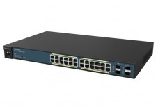 Engenius switch 24P Gigabit PoE+ 185W & Ctrl 50 bornes WiFi