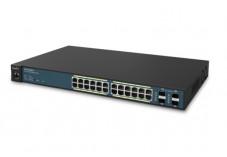 Engenius switch 24P gigabit poe+ 410W & ctrl 50 bornes wifi