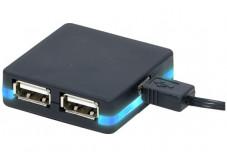 Hub USB 2.0 HighSpeed - 4 ports + LED