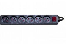 DEXLAN Multiprise 6 prises avec interrupteur noire - 4,0 m