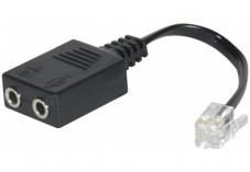 Adaptateur 2xJack 3,5mm vers RJ9 DEXLAN pour Casque multimédia