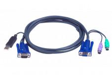 Cable kvm ATEN 2L-5502UP VGA-USB-PS2 - 1,80M