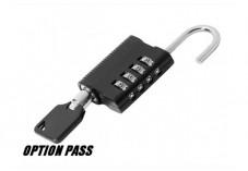 CADENAS 4 DIGITS avec clé PASS optionnelle