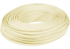 Câble méplat RJ Ivoire 4C - rouleau de 100m