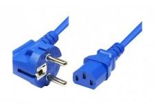 Cordon d'alimentation PC CEE7 / C13 bleu - 1,8 m