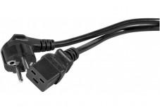 Cordon secteur CEE7 / C19 noir - 2,0 m