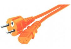 Cordon d'alimentation PC CEE7 droit / C13 orange - 1,8 m