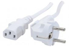 Cordon d'alimentation PC CEE7 / C13 blanc - 0,6 m