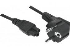 Cordon d'alimentation tripolaire PC CEE7 / C5 noir - 1,8 m