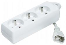Multiprise 3 prises spécial onduleur avec prise IEC C14 - 1,5m