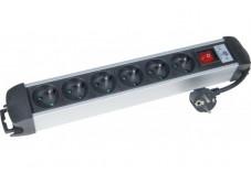 Multiprise 6 prises avec interrupteur noire