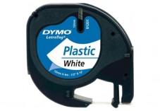 Ruban plastique dymo noir/blanc 12MM pour letratag