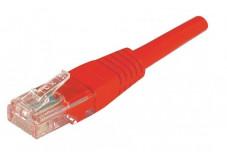Câble RJ45 CAT 5e U/UTP - Rouge - (5,0m)