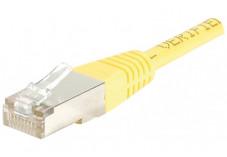 Câble RJ45 CAT 5e F/UTP - Jaune - (3,0m)