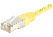 Câble RJ45 CAT 5e F/UTP - Jaune - (5,0m)