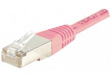 Câble RJ45 CAT 5e F/UTP - Rose - (5,0m)