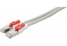 Câble RJ45 CAT6 S/FTP à verrouillage - Gris - (0,5m)