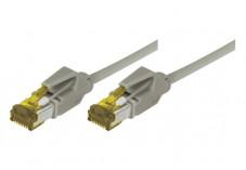 Câble RJ45 CAT 7 S/FTP a connecteurs CAT 6a - Gris - (0,3m)
