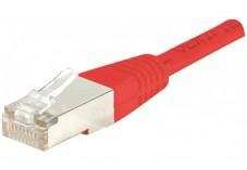 Câble RJ45 CAT6 S/FTP Croisé - Rouge - (1m)