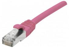 Câble RJ45 CAT6a F/UTP Snagless LSOH - Rose - (0,3m)