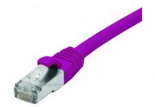 Câble RJ45 CAT6 F/UTP Snagless LSOH - Violet - (25m)